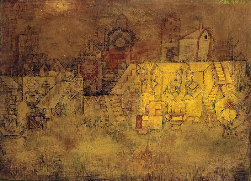 Old cemetery. Paul Klee