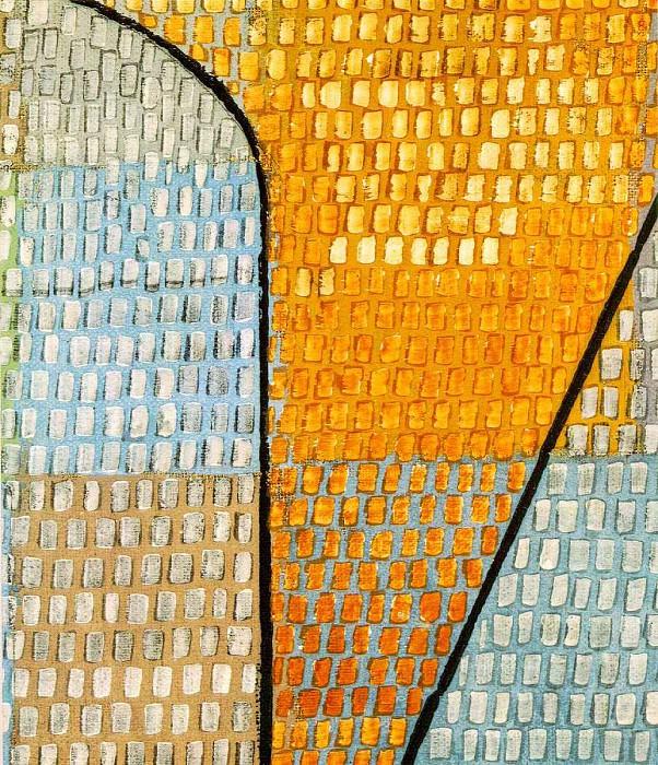 Ad Parnassum, Detalj, 1932, 100x126 cm,. Paul Klee