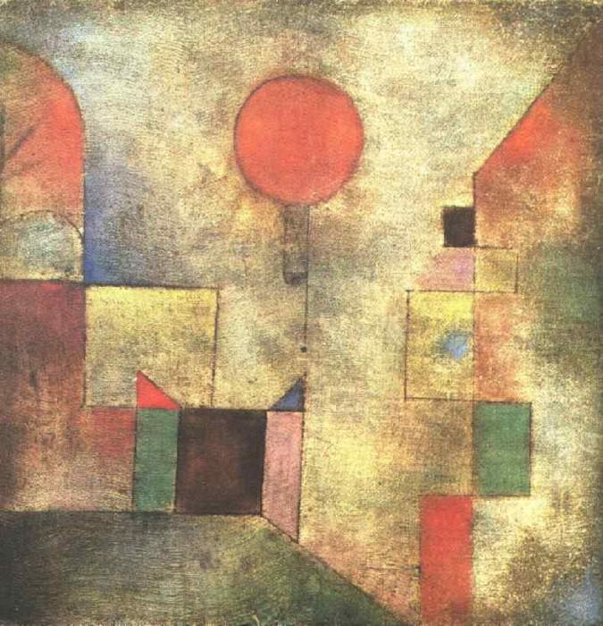 The red balloon, 193, Solomon R. Guggenheim Museum, New. Paul Klee