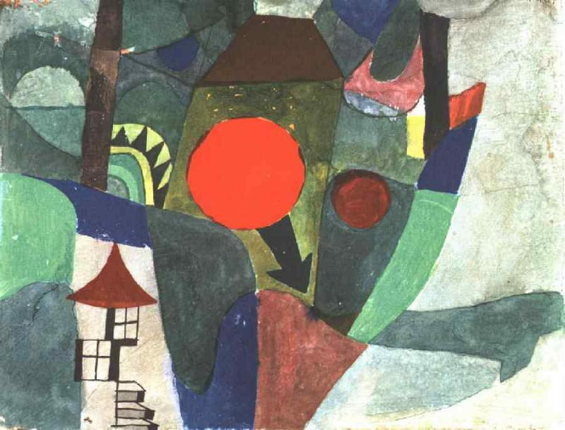 With the Setting Sun, 1919, Coll.Felix Klee, Bern. Paul Klee