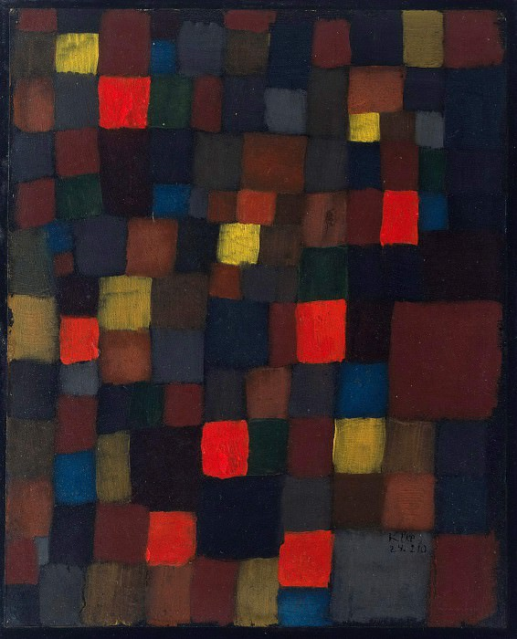 Abstract color harmony. Paul Klee