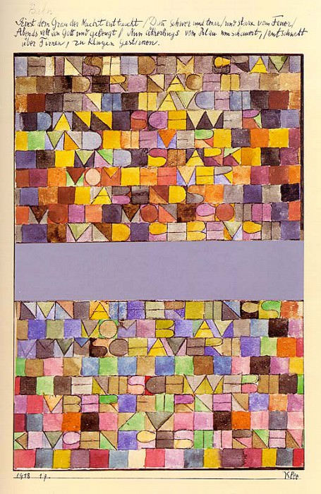 Once Emerged from the Gray of Night, 1918, watercolor o. Paul Klee