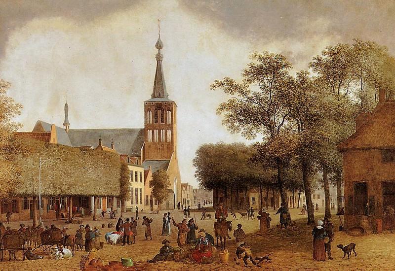Market in Helmond. Josehus Knip