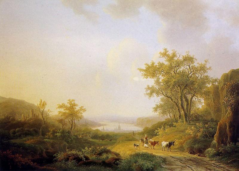 Klerk de Willem Summer landscape Sun. De Willem Klerk