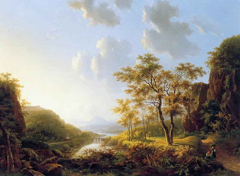 Klerk de Willem View on the Rhine Sun. Виллем де Клерк