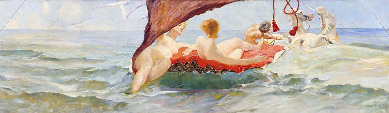 Venus in the shell chariot. Max Klinger