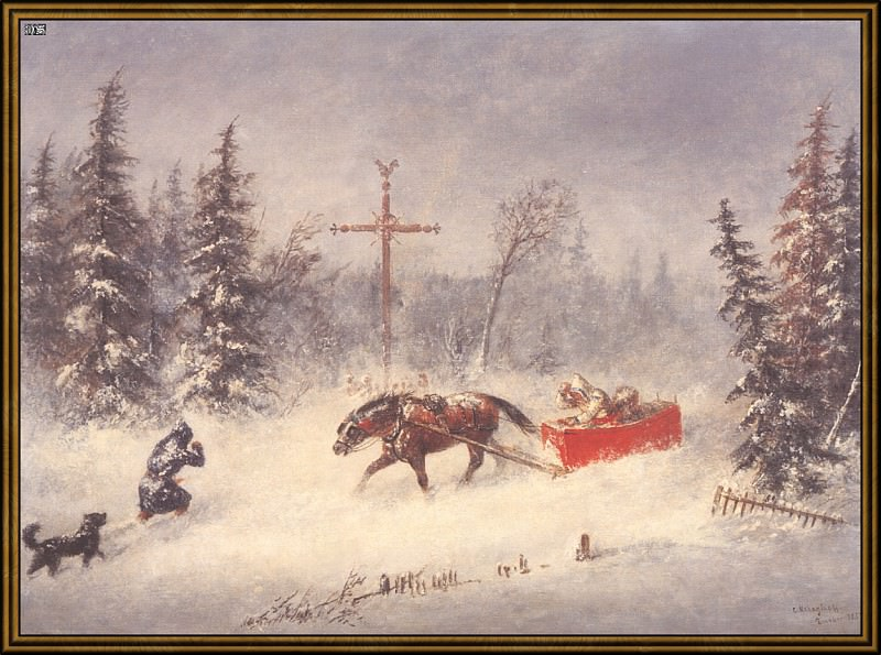 Снежный буран (1857). Корнелиус Кригхофф