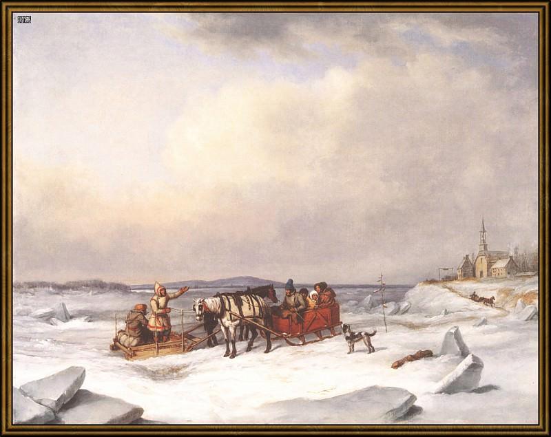 Ледовый мост (1847). Корнелиус Кригхофф