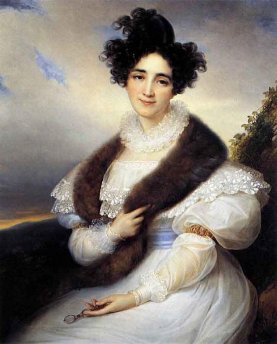KINSOEN Francois Joseph Portrait Of Marie J Lafont Porcher. Франсуа-Иосиф Кинсен