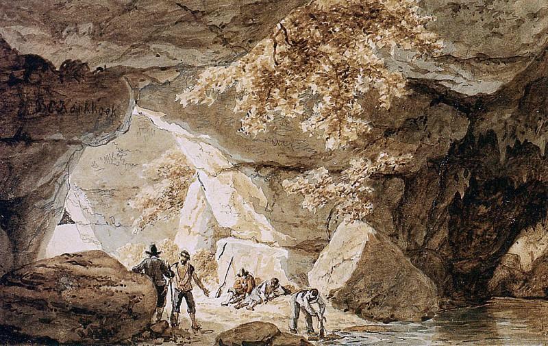 Caves. Barend Cornelis Koekkoek
