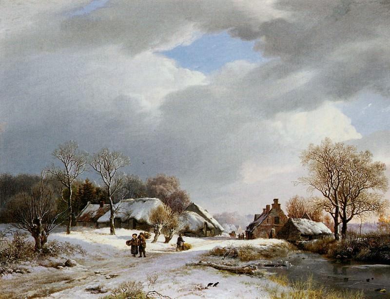 Winerlandscape at the Neder-Rijn. Barend Cornelis Koekkoek