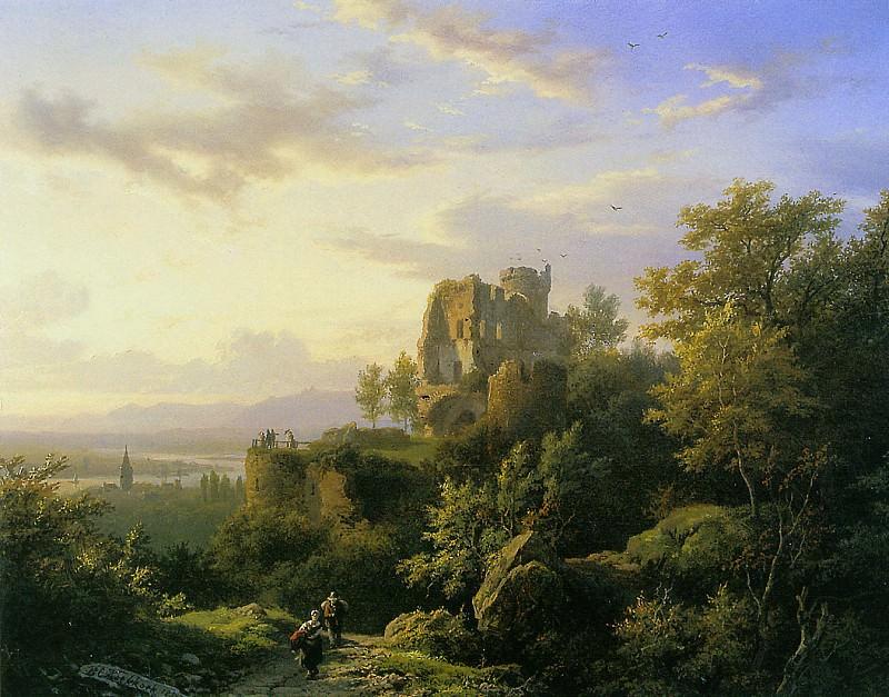 Rijn landscape. Barend Cornelis Koekkoek