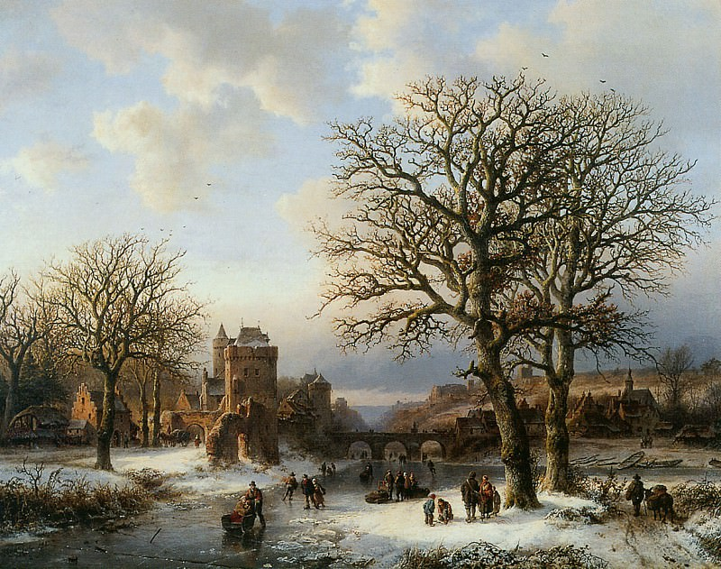 Winterlandscape. Barend Cornelis Koekkoek