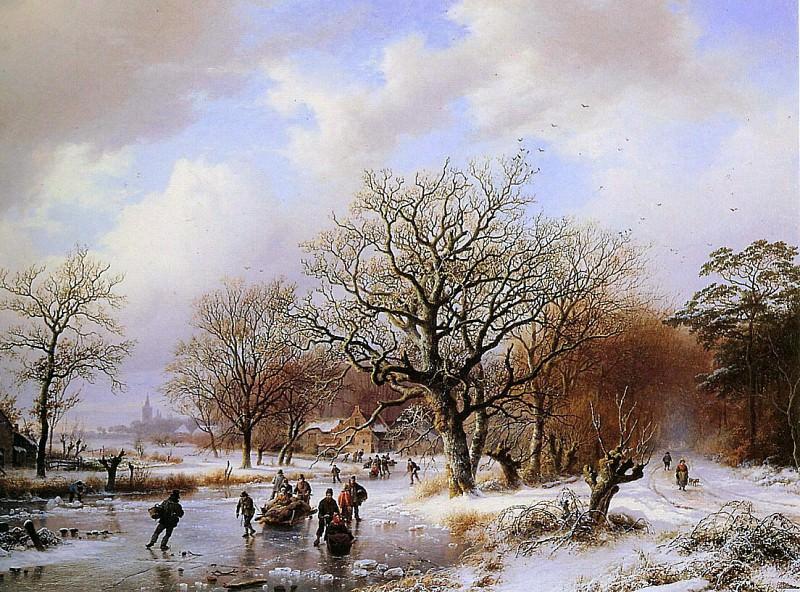A winterlandscape. Barend Cornelis Koekkoek
