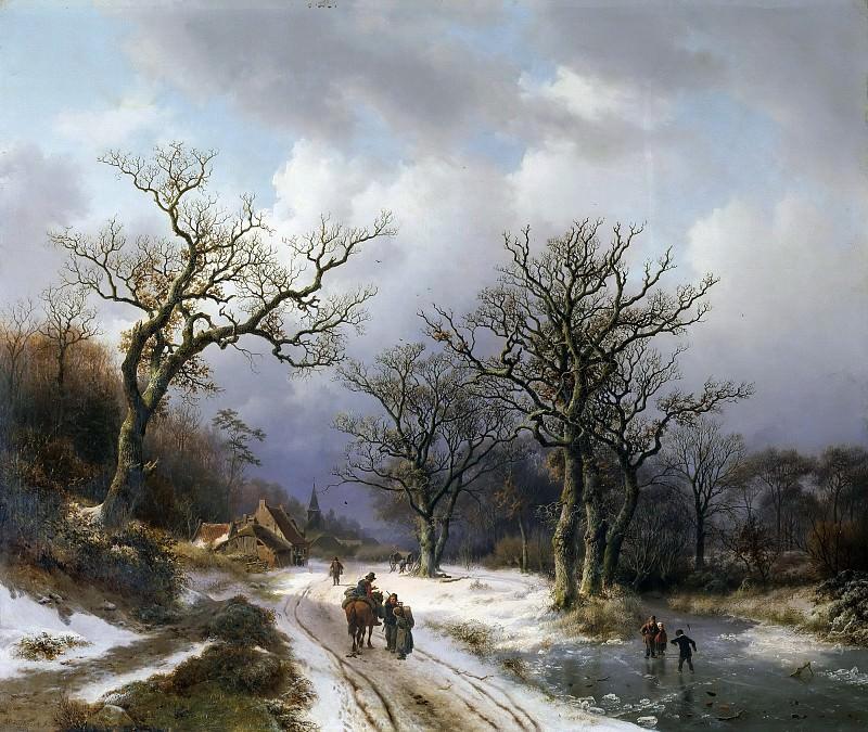 Winter landscape. Barend Cornelis Koekkoek