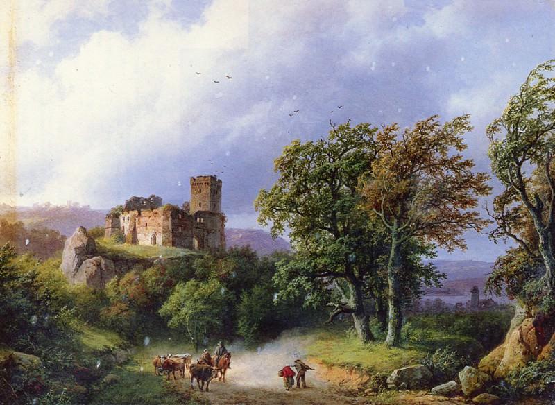 The Ruined Castle SND 1857 O P 34.6 by 47.6 cm. Barend Cornelis Koekkoek