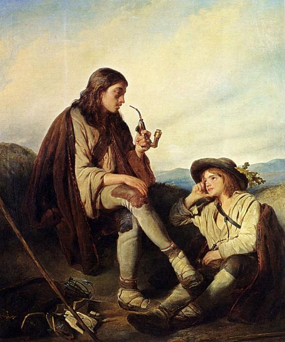 Kruseman Cornelis At Rest. Cornelis Kruseman