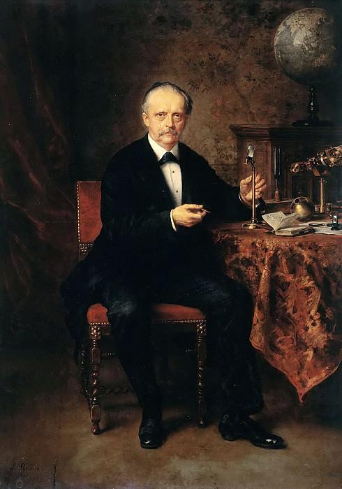 Portrait of the Physicist Hermann von Helmholtz. Ludwig Knaus