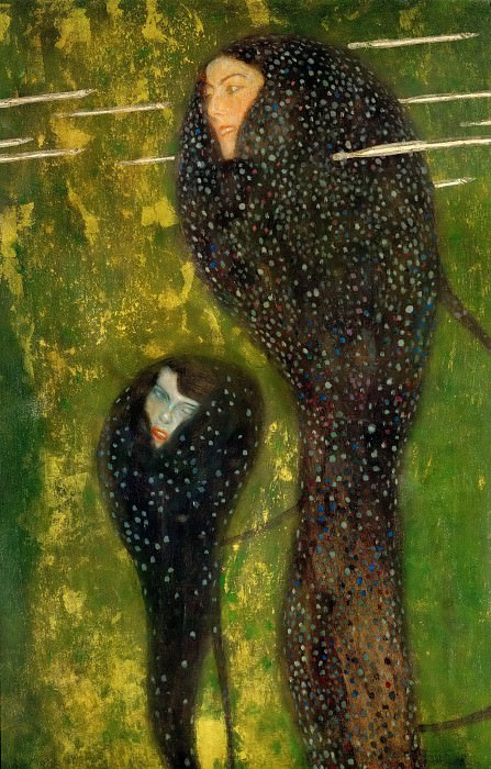 Water Nymphs - Silverfish. Gustav Klimt