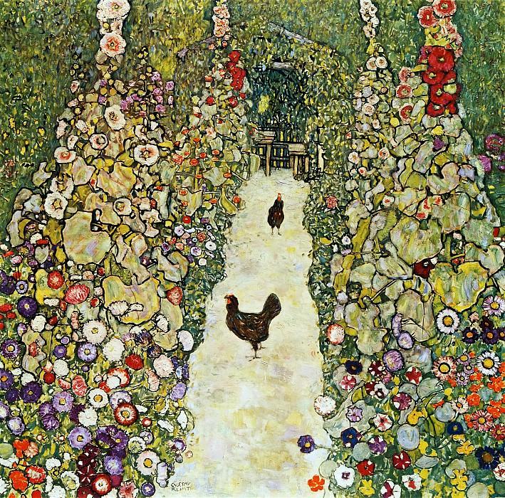 Garden Path with Hens. Gustav Klimt