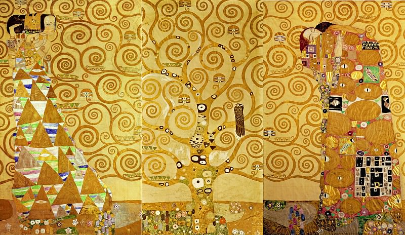 Mural for the dining room of the Stoclet Palais: Expectation - Tree of life - Fulfilment. Gustav Klimt