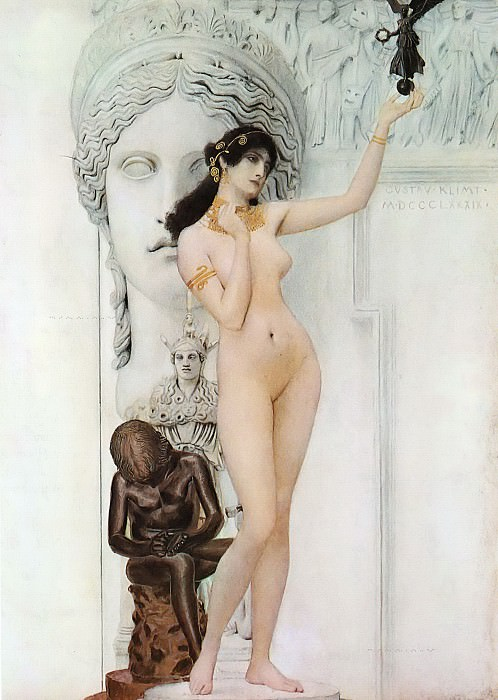 Allegory of Sculpture. Gustav Klimt