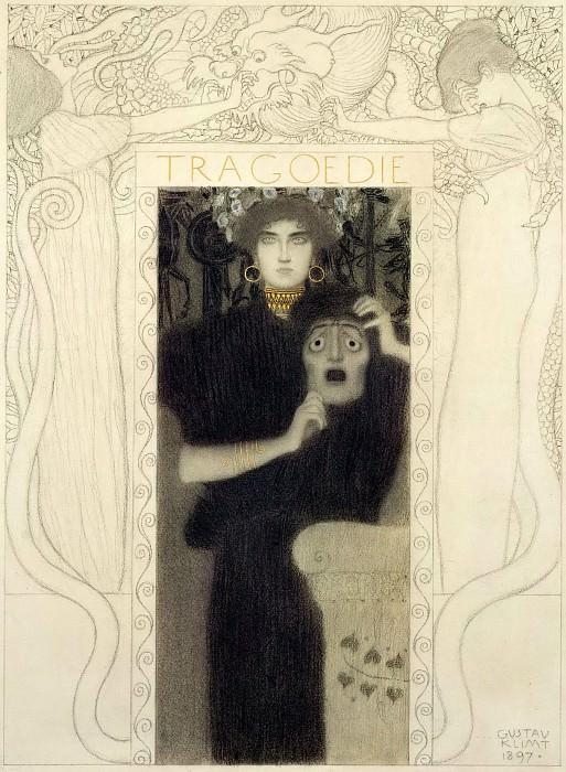 Study for the allegory of Tragedy. Gustav Klimt