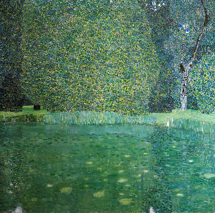 Pond of Schloss Kammer on Attersee. Gustav Klimt