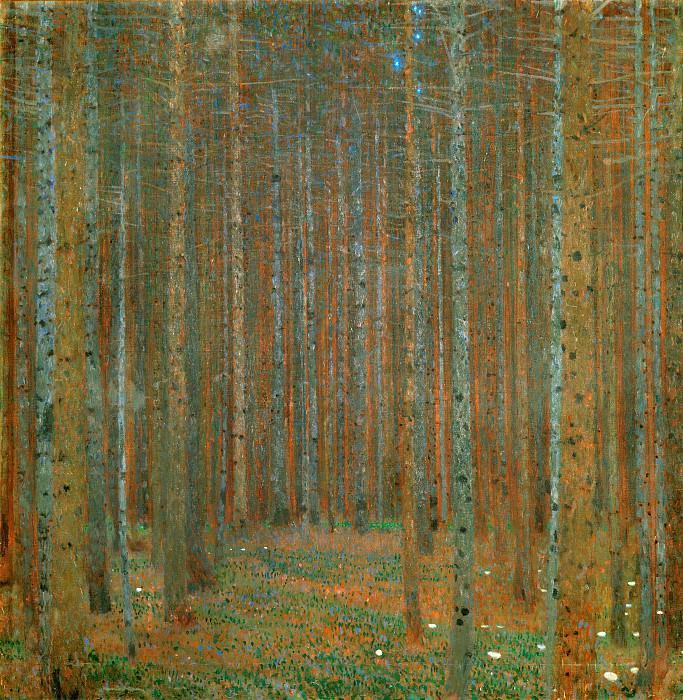 Pine Forest. Gustav Klimt
