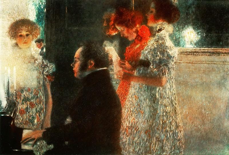 Schubert at the Piano. Gustav Klimt