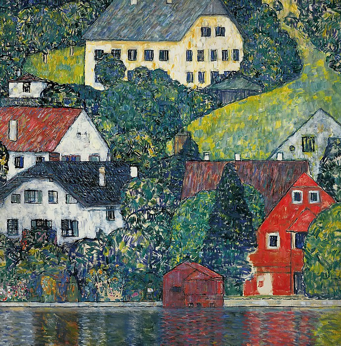 Houses at Unterach on the Attersee. Gustav Klimt