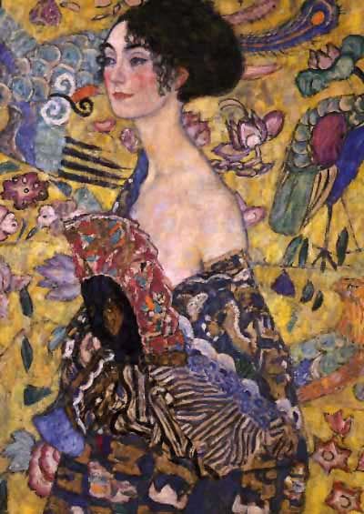 Lady with Fan. Gustav Klimt