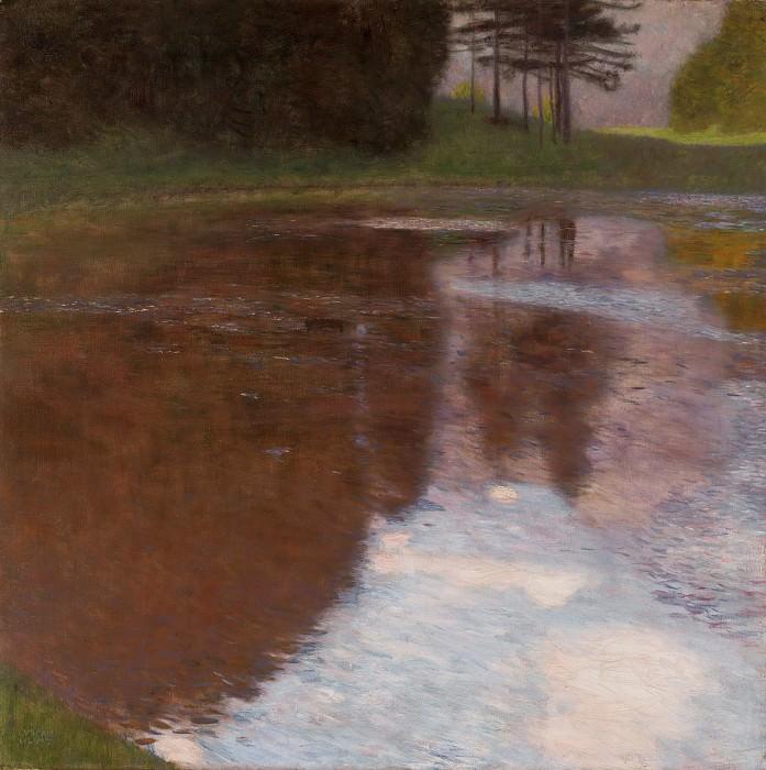 Tranquil Pond (Egelsee near Golling, Salzburg). Gustav Klimt