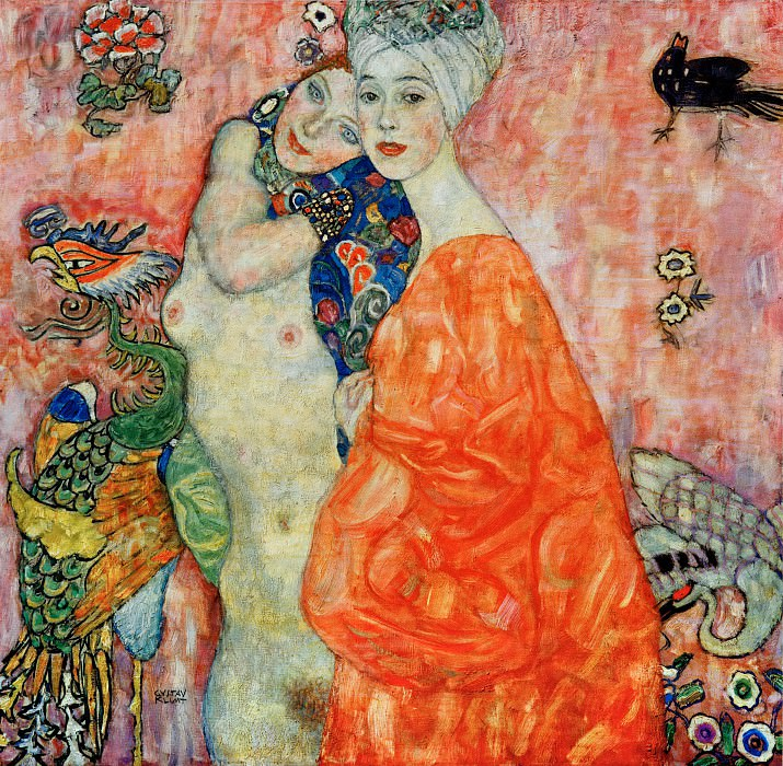 Girlfriends. Gustav Klimt