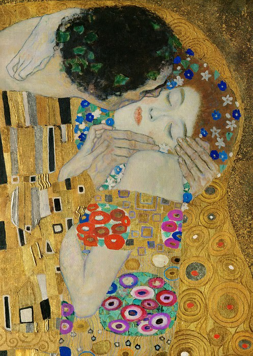 The Kiss (fragment). Gustav Klimt