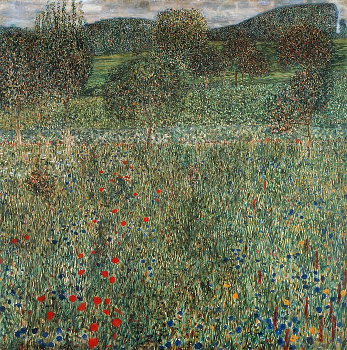 Orchard or Field of flowers. Gustav Klimt