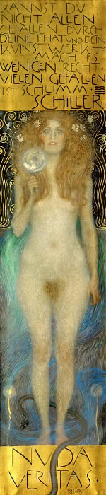 Nuda Veritas (Naked Truth). Gustav Klimt