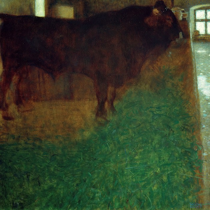 The black bull. Gustav Klimt