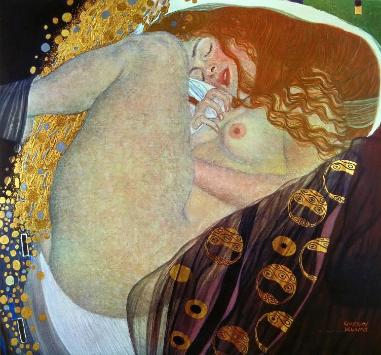 Title Danae. Gustav Klimt