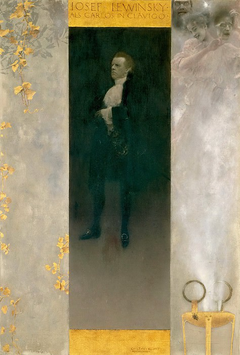 Josef Lewinsky as Carlos. Gustav Klimt