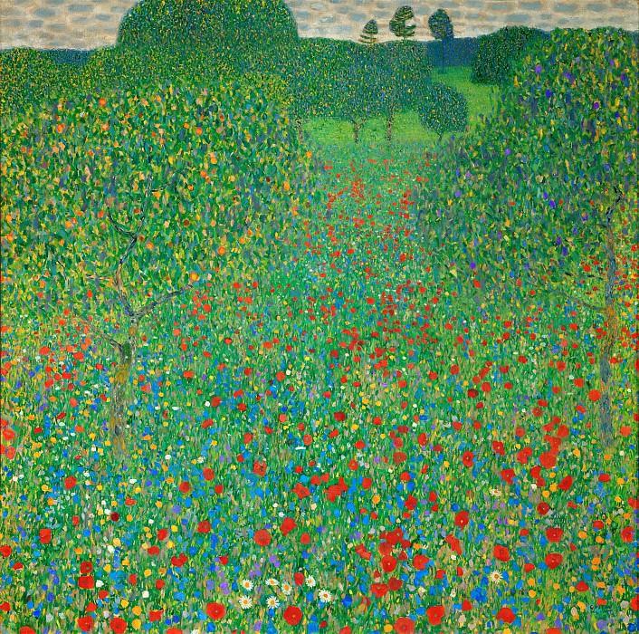 Poppy Field. Gustav Klimt