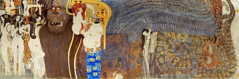 The Beethoven Frieze hostile forces, the three Gorgons. Gustav Klimt