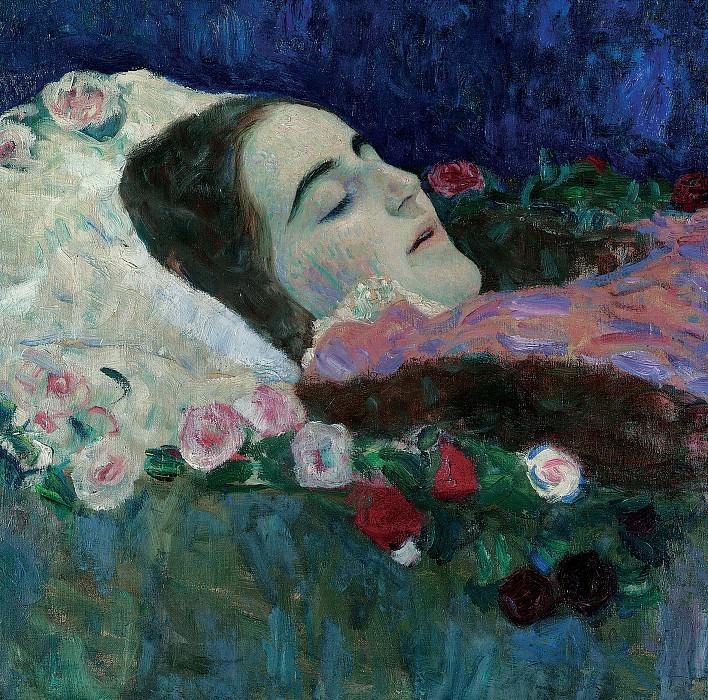 Ria Munk on her Deathbed. Gustav Klimt