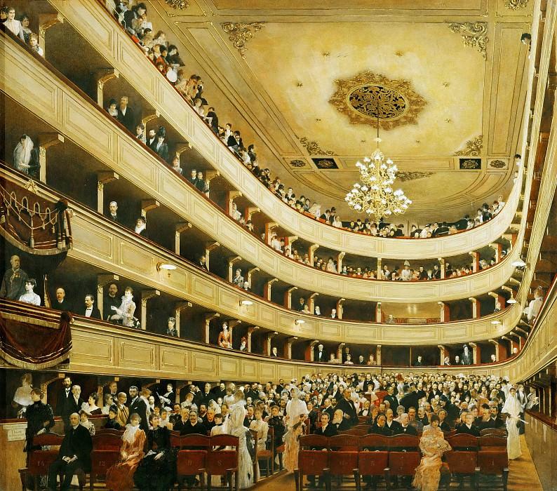Зал старого дворцового театра в Вене. Густав Климт