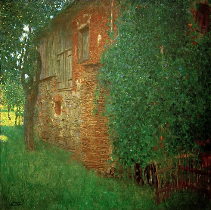 Farmhouse. Gustav Klimt