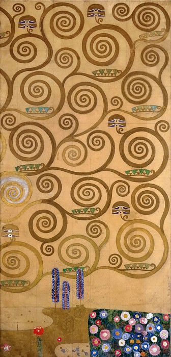 Mural for the dining room of the Stoclet Palais. Gustav Klimt