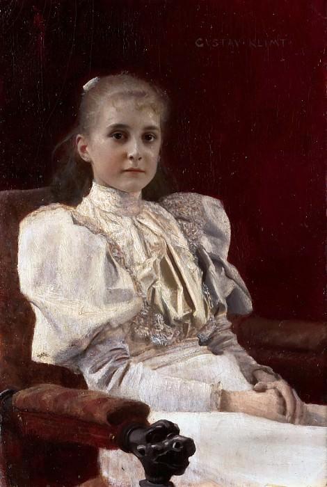 Девушка в кресле. Густав Климт