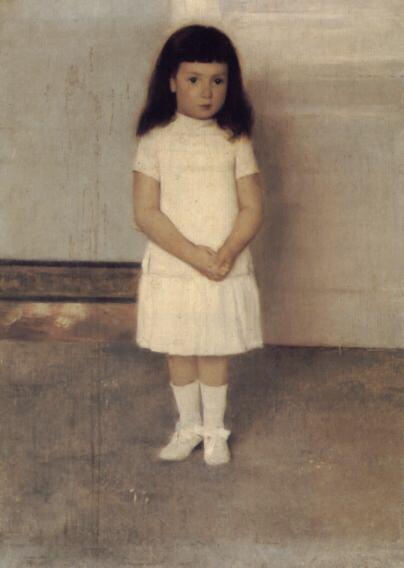 Портрет девочки в белом. Фернан Кнопф