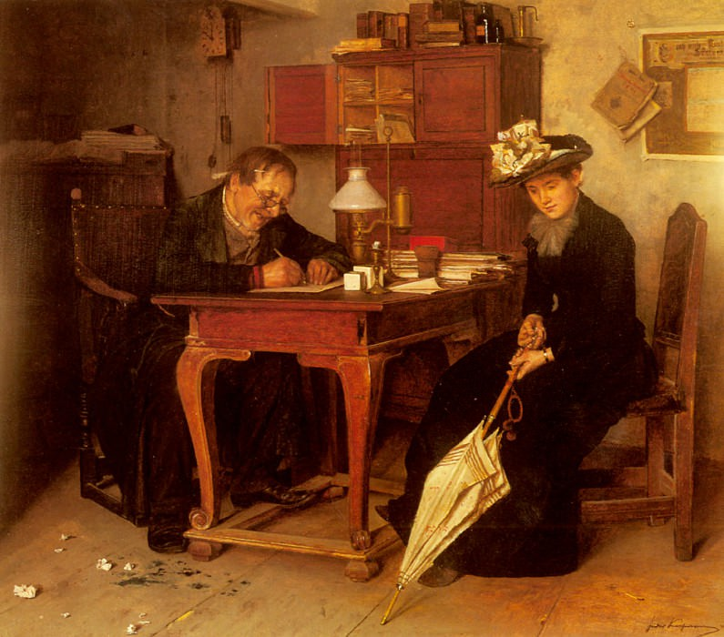 A Business Transaction. Isidor Kaufmann