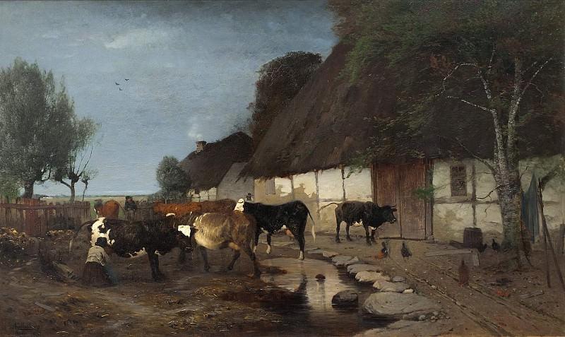 Farmstead in Skåne. Anders Kallenberg